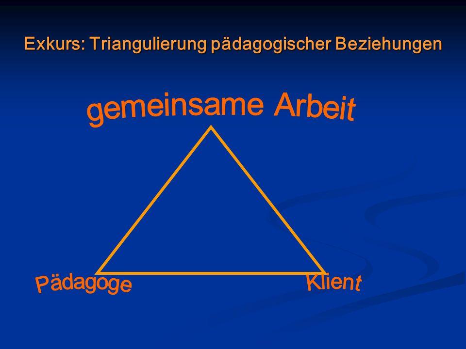 Exkurs: Triangulierung pädagogischer Beziehungen