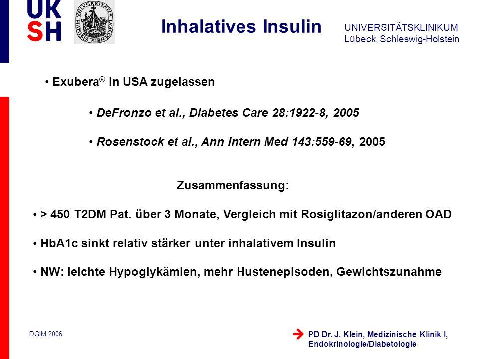 Inhalatives Insulin Exubera® in USA zugelassen