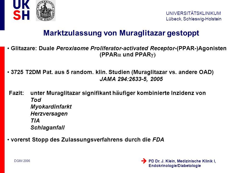 Marktzulassung von Muraglitazar gestoppt