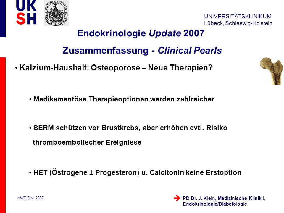 Endokrinologie Update 2007 Zusammenfassung - Clinical Pearls