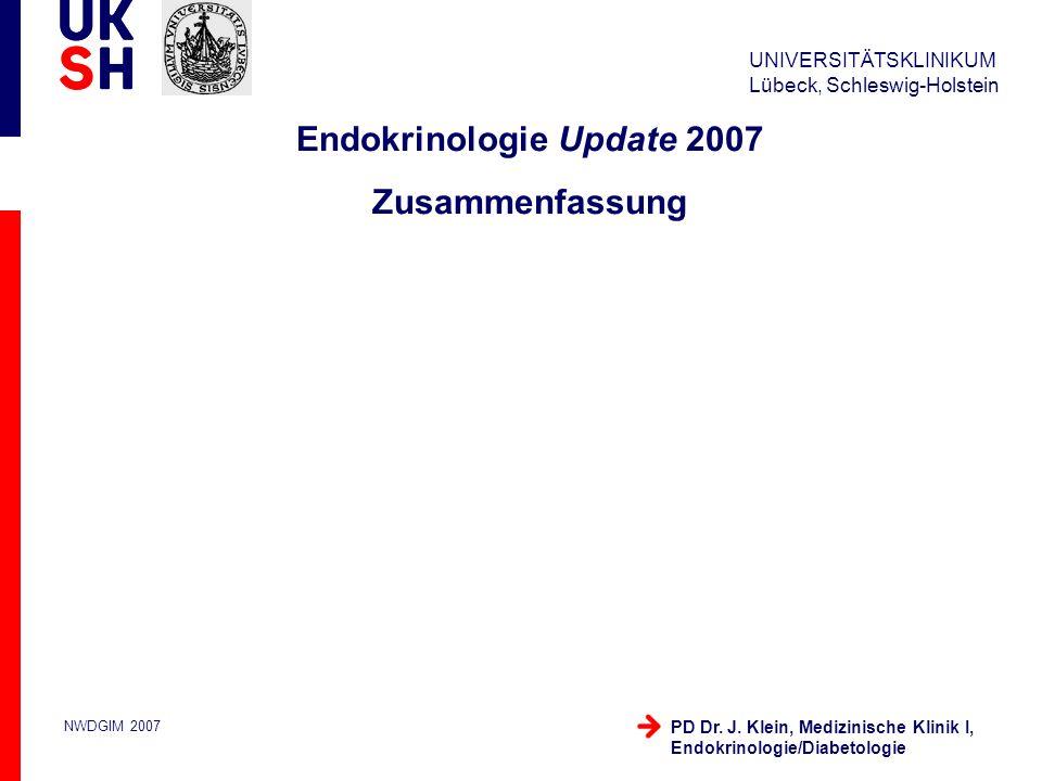 Endokrinologie Update 2007 Zusammenfassung