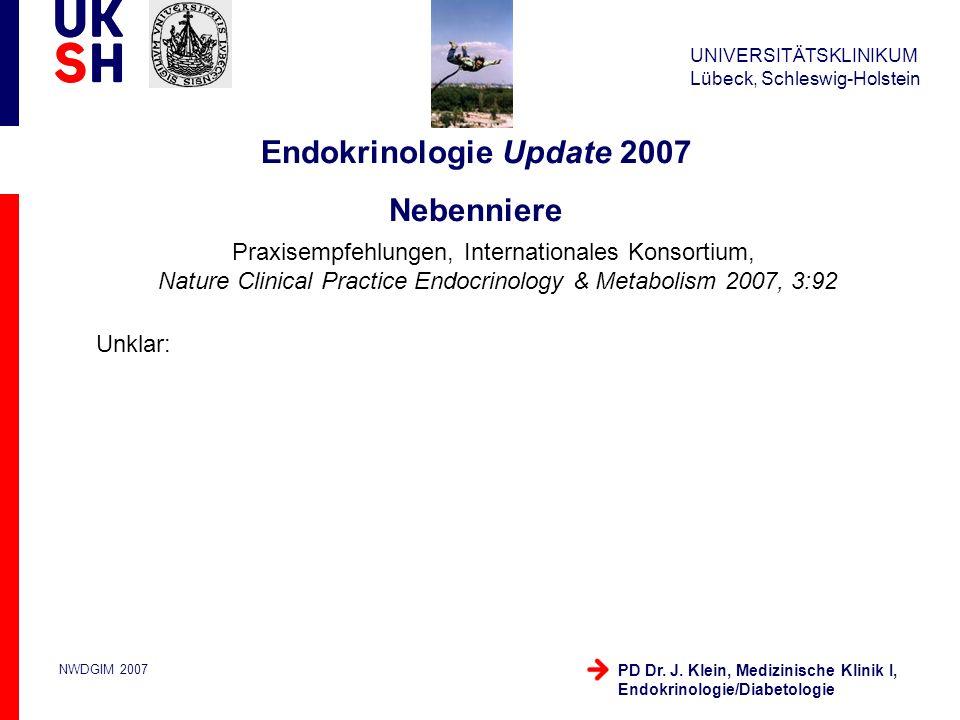 Endokrinologie Update 2007 Nebenniere
