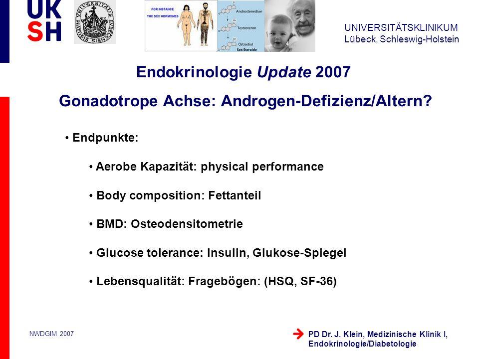 Endokrinologie Update 2007 Gonadotrope Achse: Androgen-Defizienz/Altern