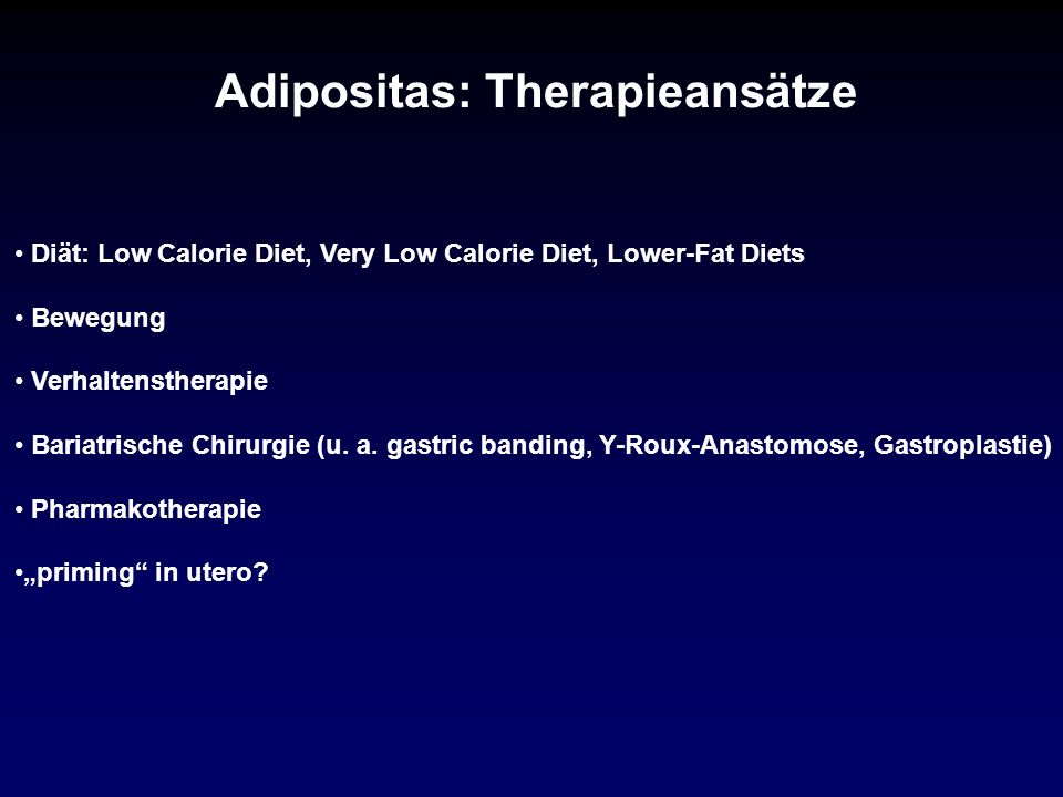 Adipositas: Therapieansätze