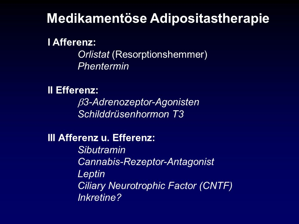 Medikamentöse Adipositastherapie