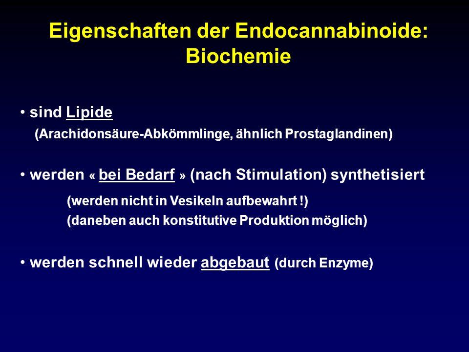 Eigenschaften der Endocannabinoide: