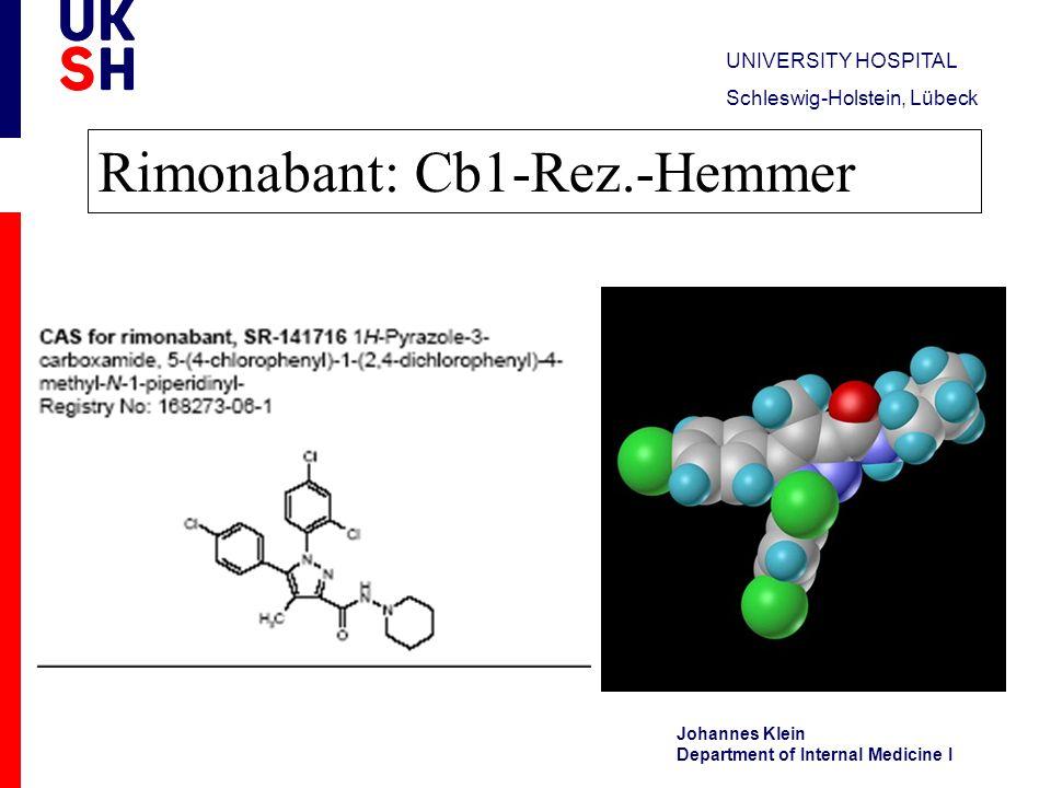 Rimonabant: Cb1-Rez.-Hemmer