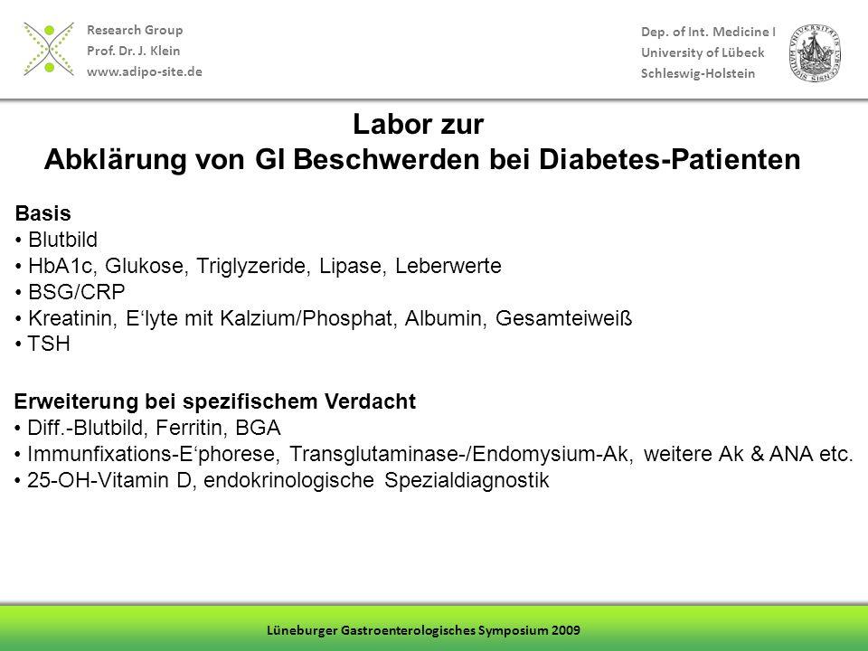 Abklärung von GI Beschwerden bei Diabetes-Patienten