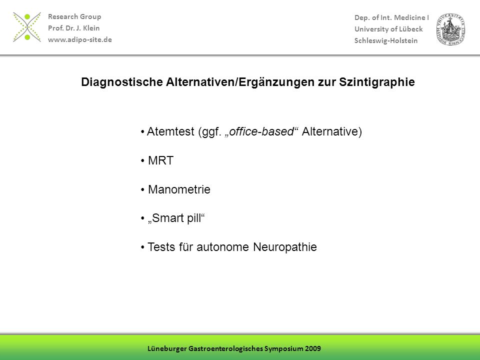 Diagnostische Alternativen/Ergänzungen zur Szintigraphie