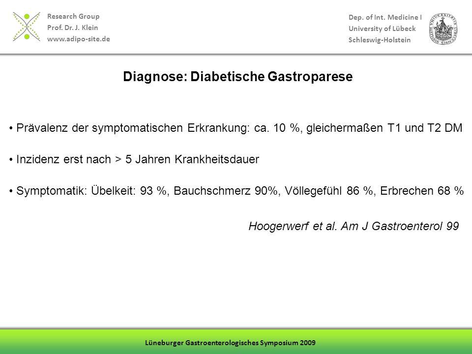Diagnose: Diabetische Gastroparese