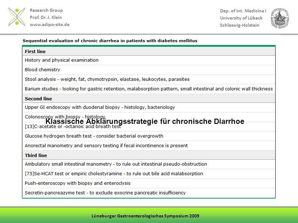 Klassische Abklärungsstrategie für chronische Diarrhoe