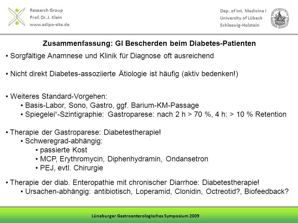 Zusammenfassung: GI Bescherden beim Diabetes-Patienten
