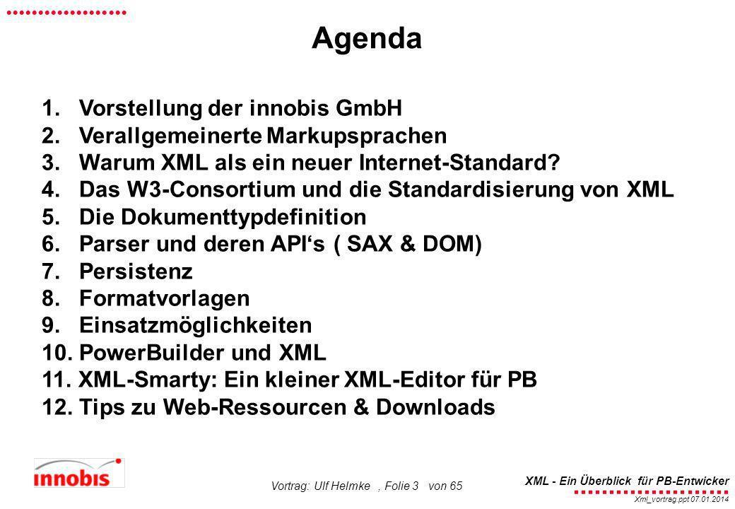 Agenda 1. Vorstellung der innobis GmbH