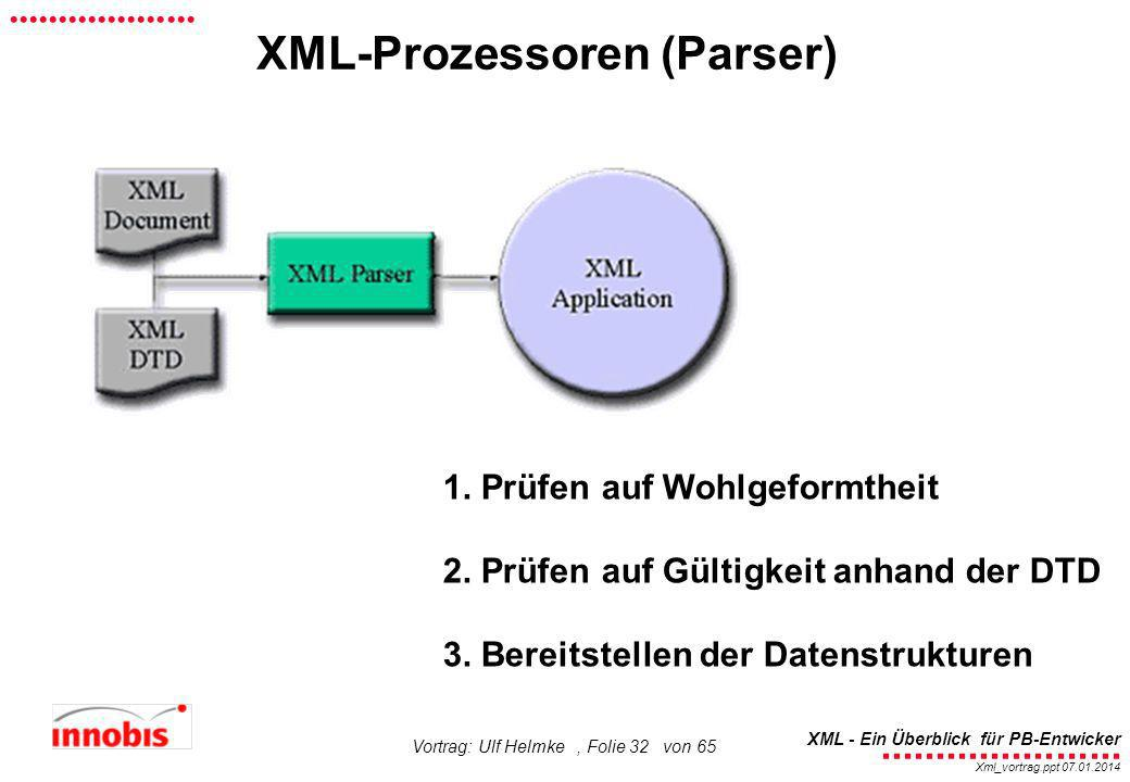 XML-Prozessoren (Parser)
