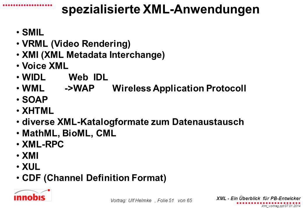 spezialisierte XML-Anwendungen