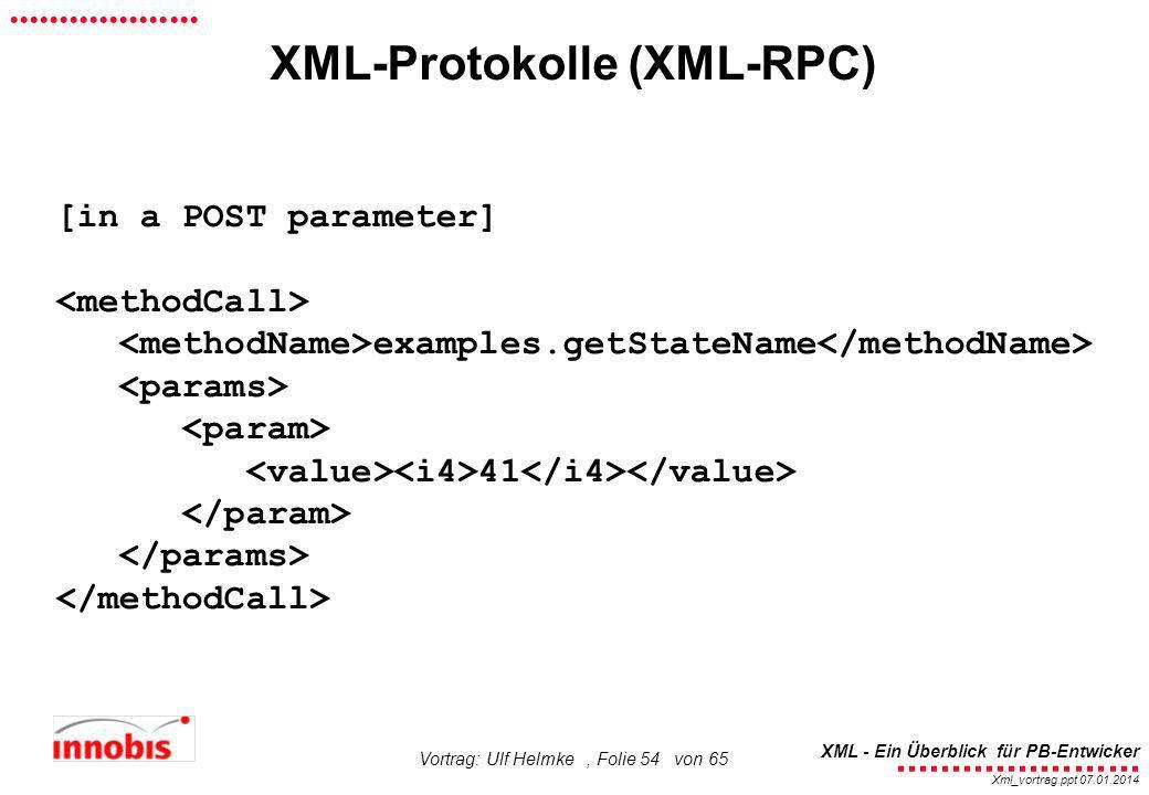 XML-Protokolle (XML-RPC)