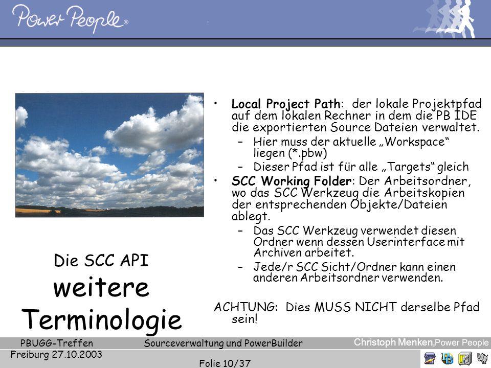 Die SCC API weitere Terminologie
