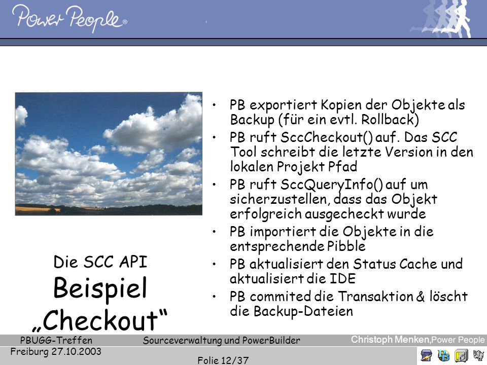"""Die SCC API Beispiel """"Checkout"""