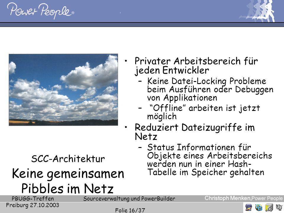 SCC-Architektur Keine gemeinsamen Pibbles im Netz