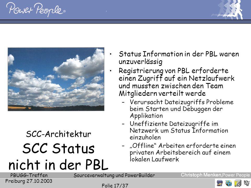 SCC-Architektur SCC Status nicht in der PBL