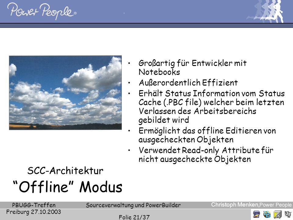 SCC-Architektur Offline Modus