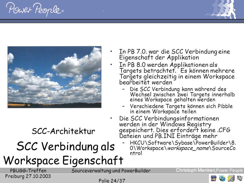 SCC-Architektur SCC Verbindung als Workspace Eigenschaft