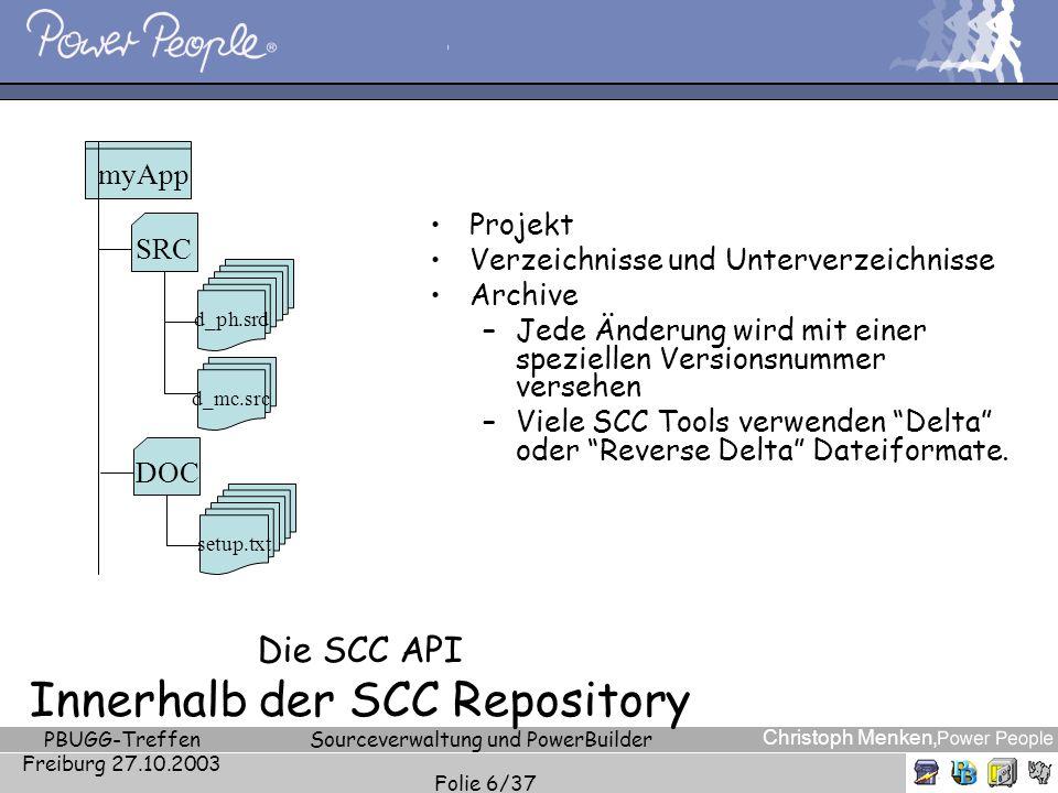 Die SCC API Innerhalb der SCC Repository