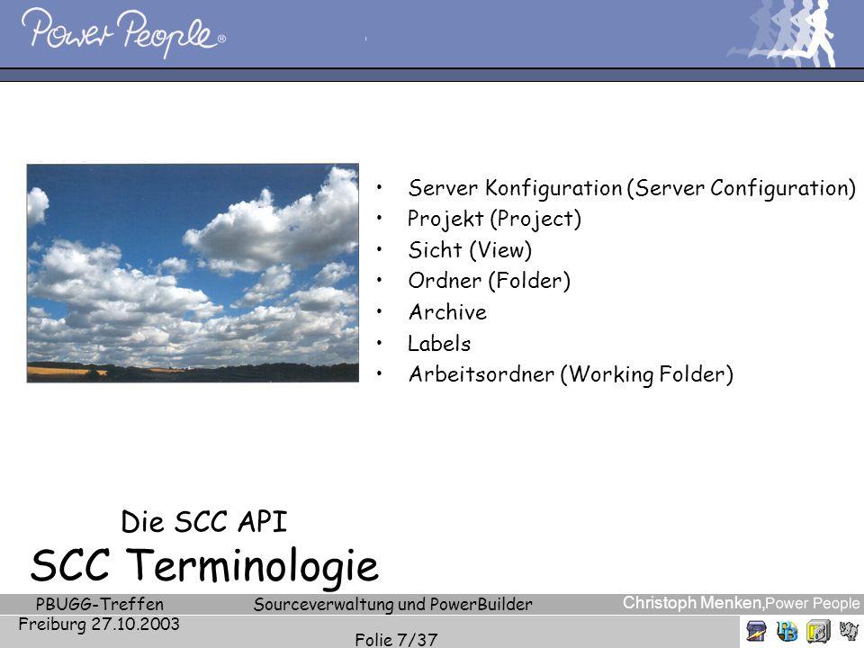 Die SCC API SCC Terminologie