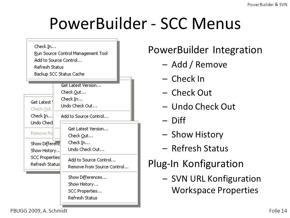 PowerBuilder - SCC Menus