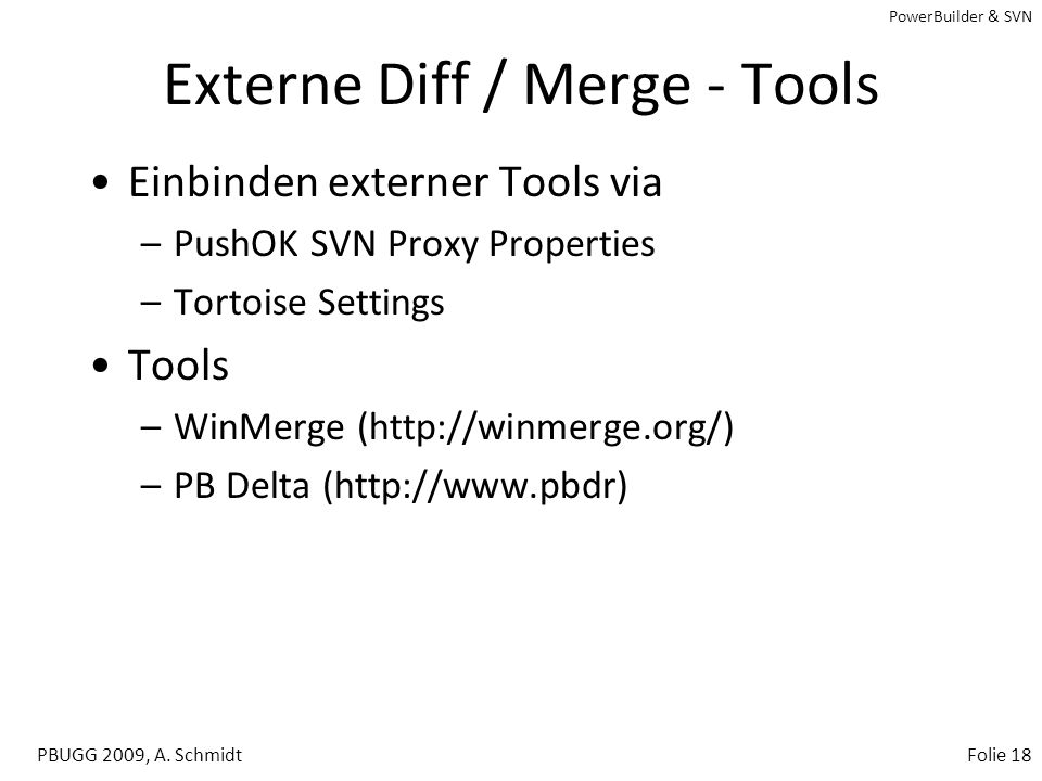 Externe Diff / Merge - Tools
