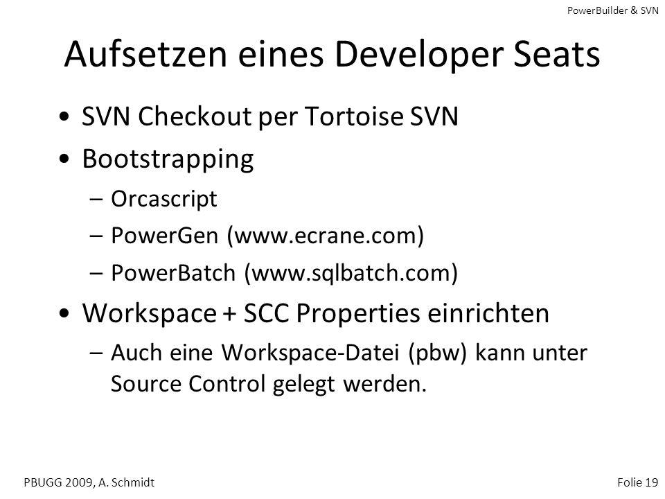Aufsetzen eines Developer Seats
