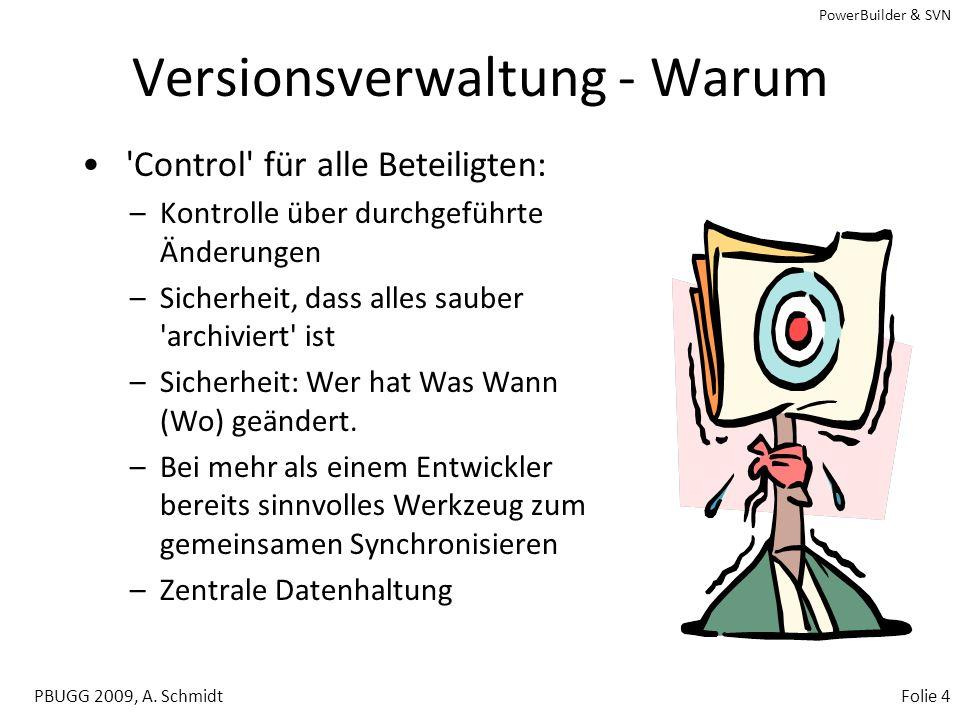 Versionsverwaltung - Warum