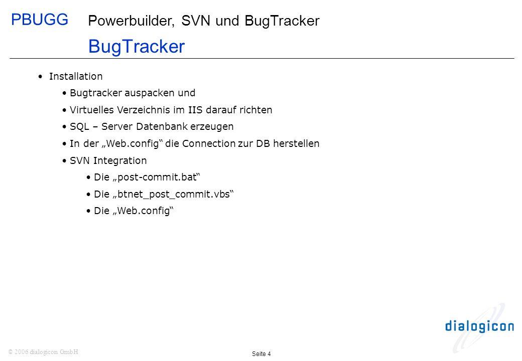 BugTracker Installation Bugtracker auspacken und