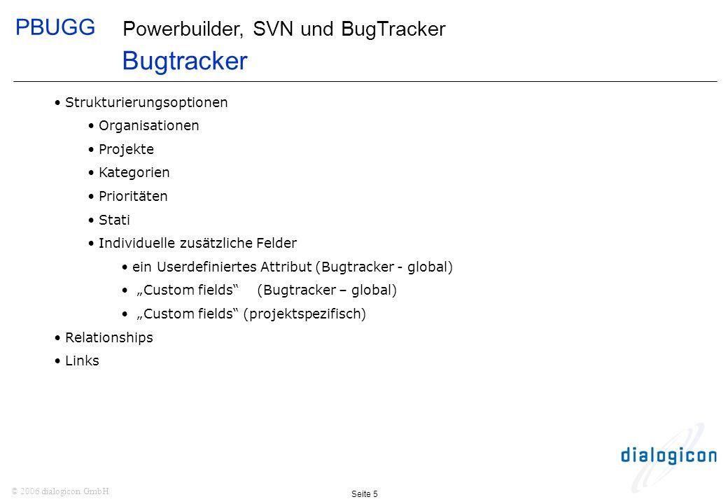 Bugtracker Strukturierungsoptionen Organisationen Projekte Kategorien