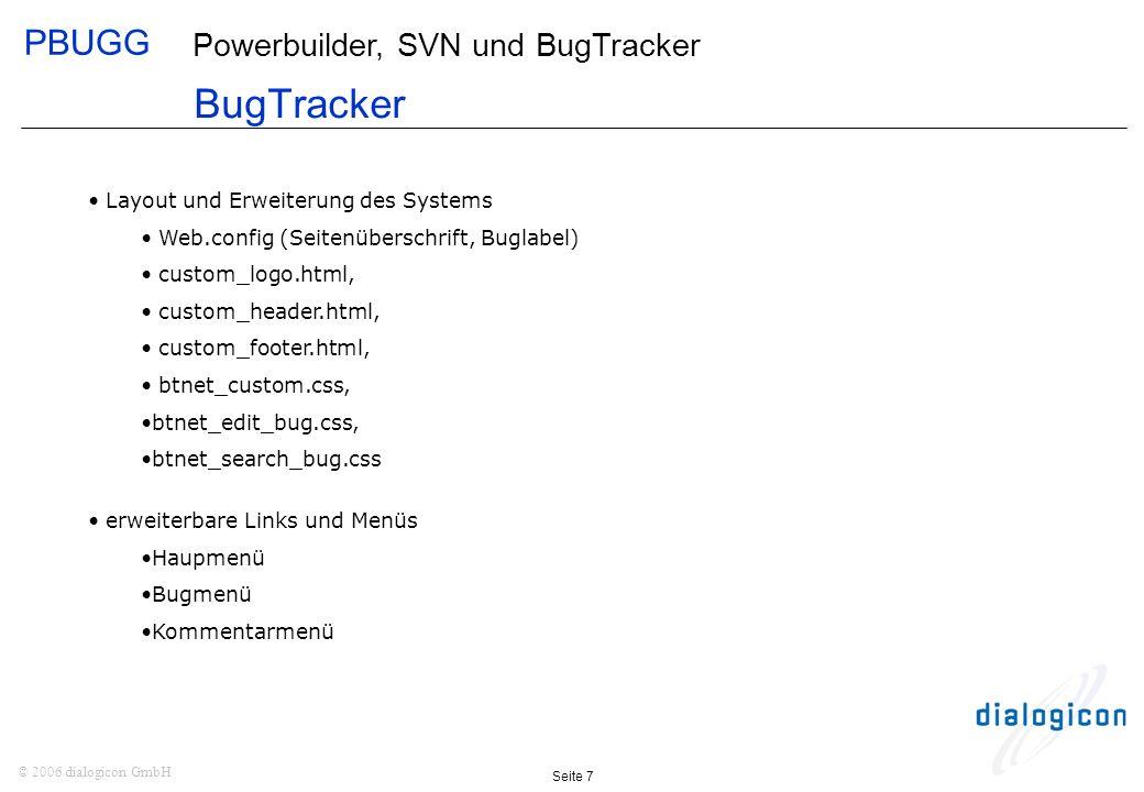 BugTracker Layout und Erweiterung des Systems