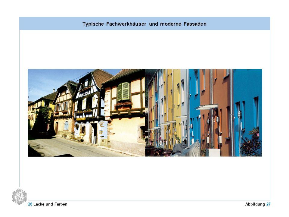 Typische Fachwerkhäuser und moderne Fassaden