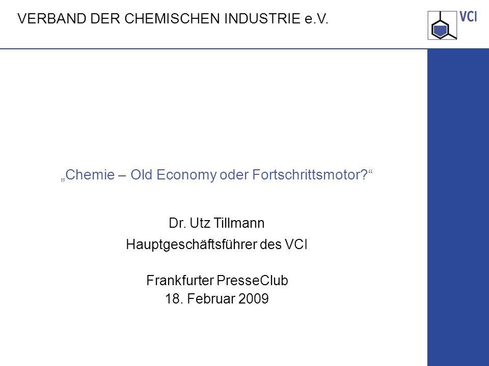 """Chemie – Old Economy oder Fortschrittsmotor"