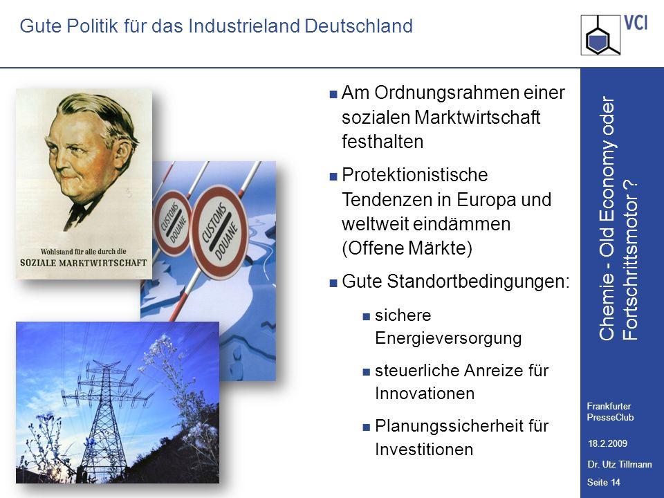 Gute Politik für das Industrieland Deutschland