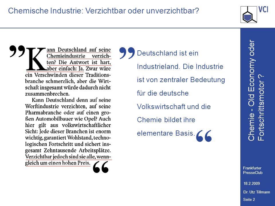 Chemische Industrie: Verzichtbar oder unverzichtbar