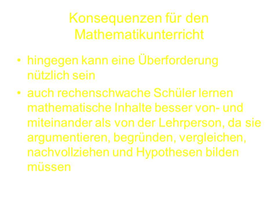 Konsequenzen für den Mathematikunterricht