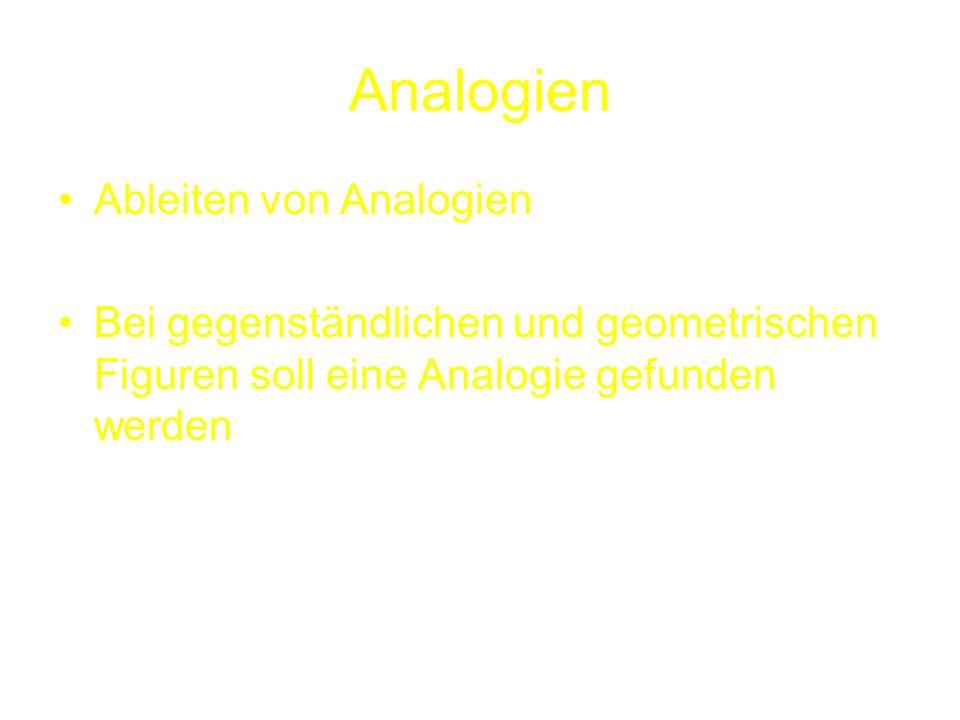 Analogien Ableiten von Analogien