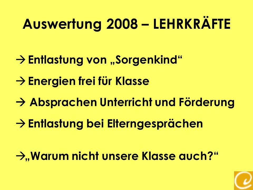 Auswertung 2008 – LEHRKRÄFTE