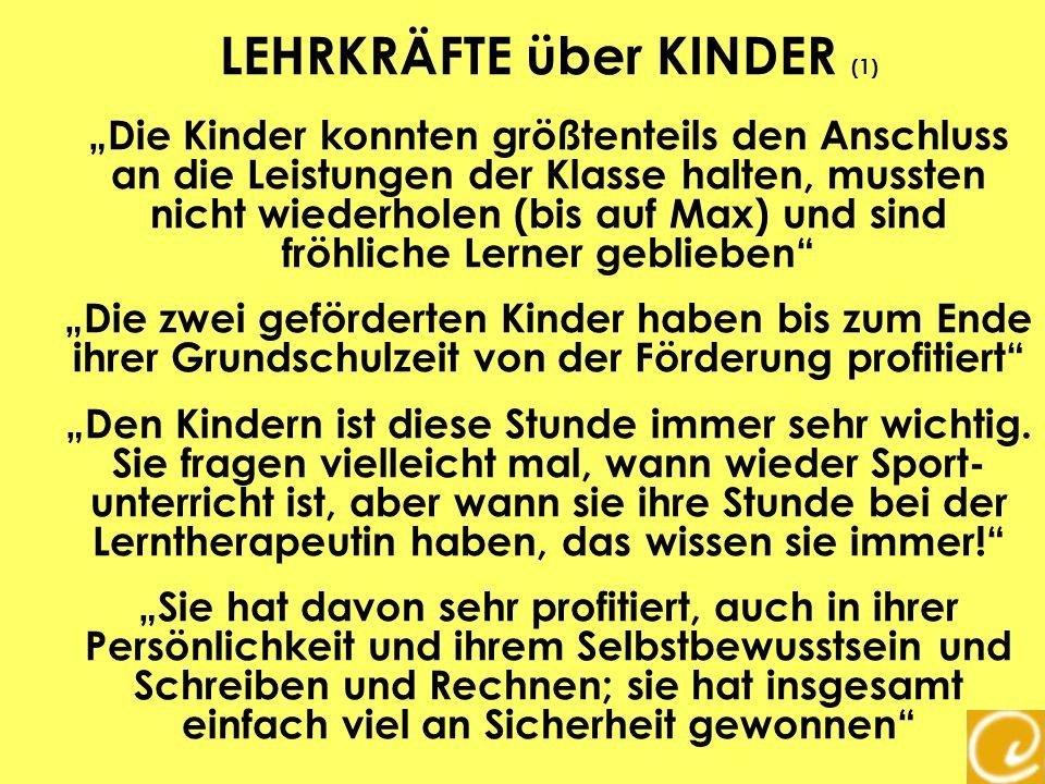 LEHRKRÄFTE über KINDER (1)