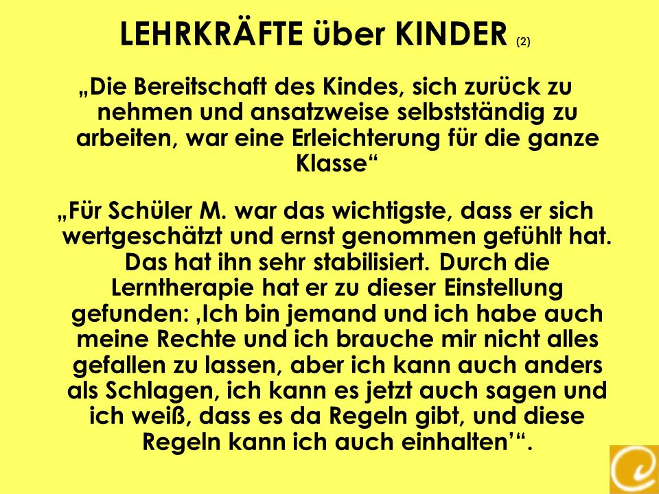 LEHRKRÄFTE über KINDER (2)
