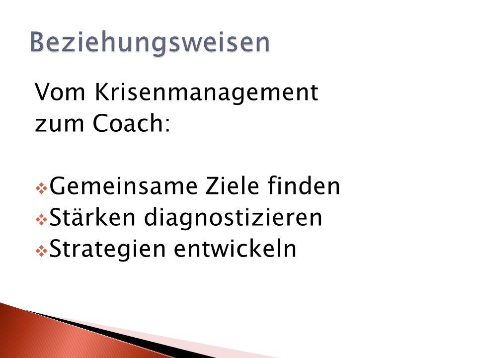 Beziehungsweisen Vom Krisenmanagement zum Coach: