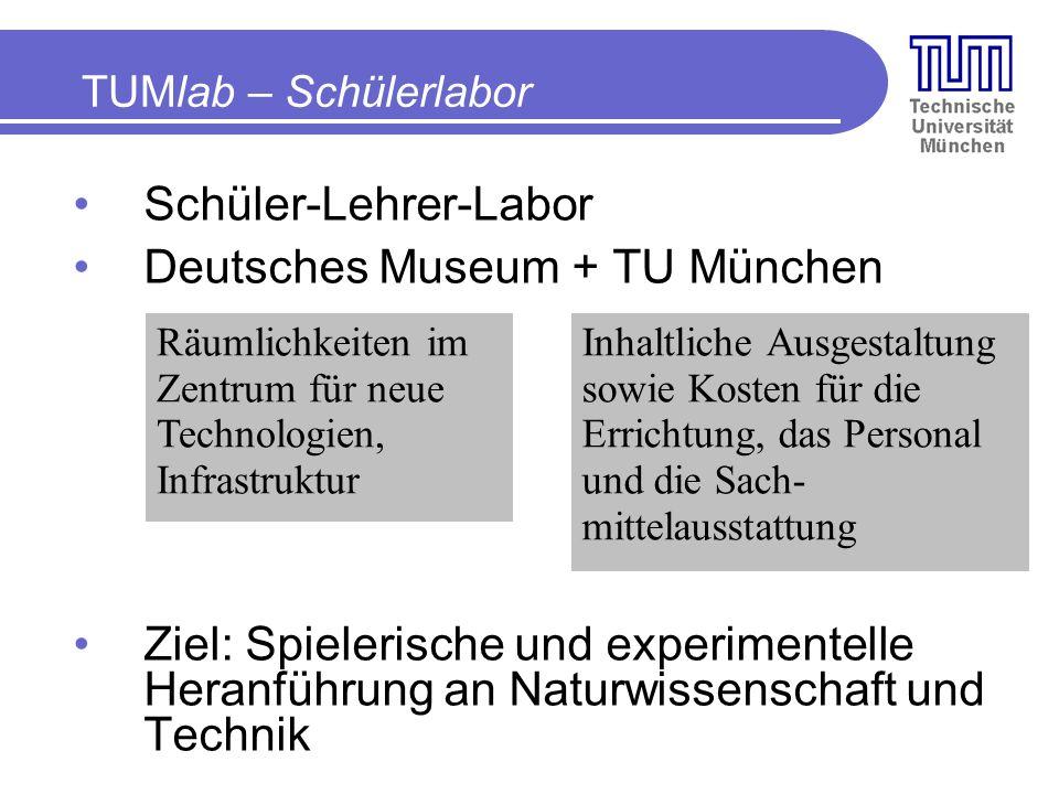 Schüler-Lehrer-Labor Deutsches Museum + TU München