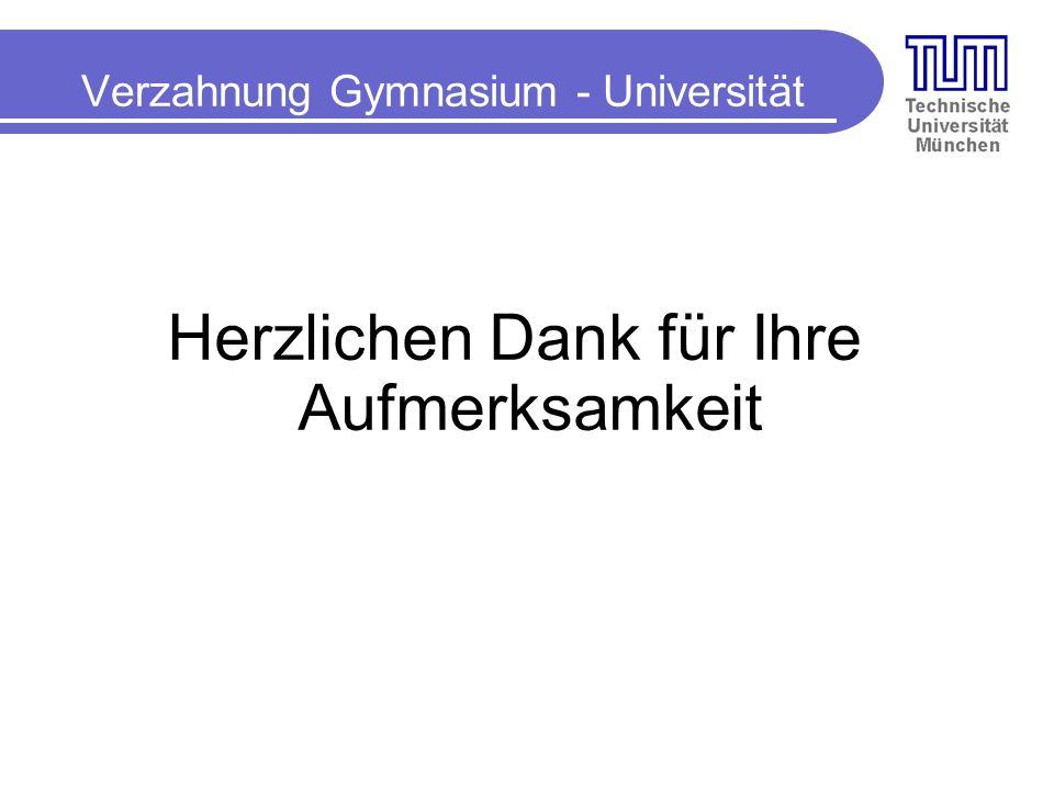 Verzahnung Gymnasium - Universität