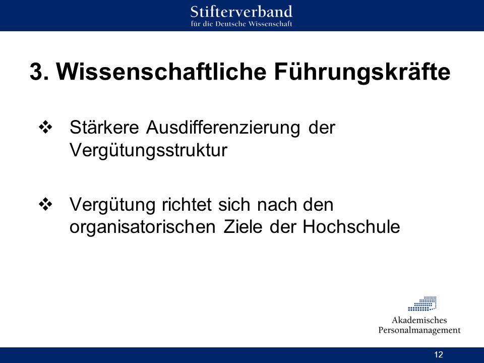 3. Wissenschaftliche Führungskräfte
