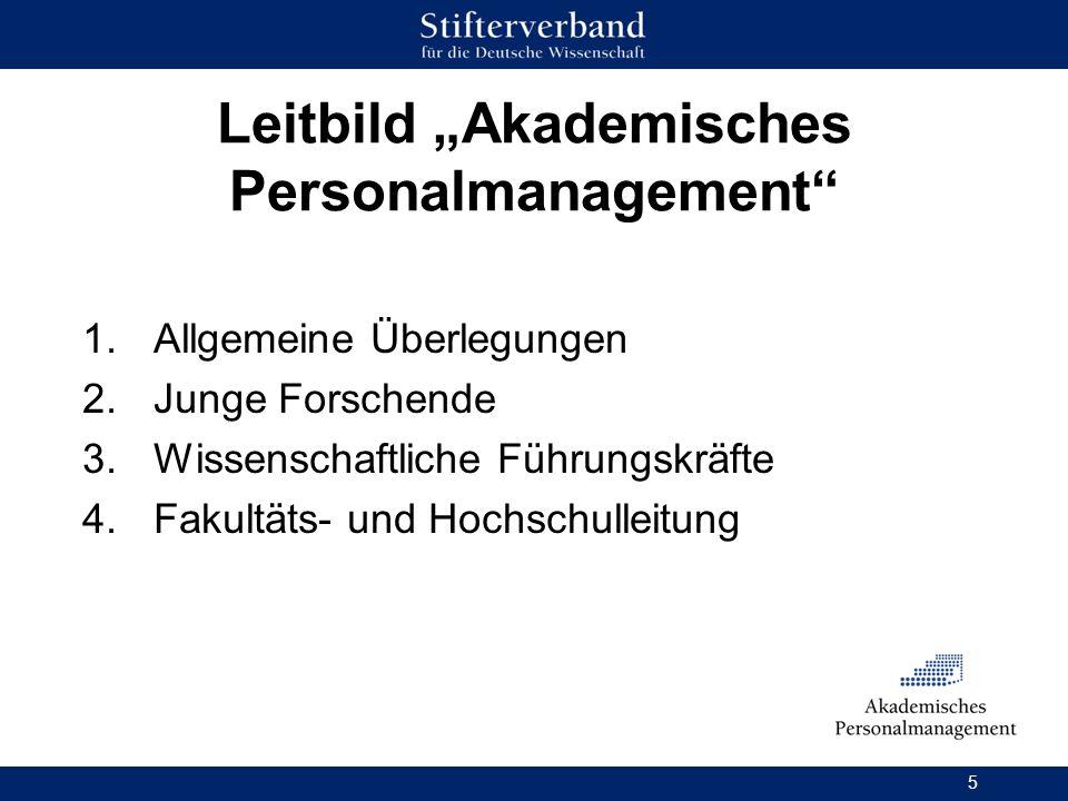 "Leitbild ""Akademisches Personalmanagement"