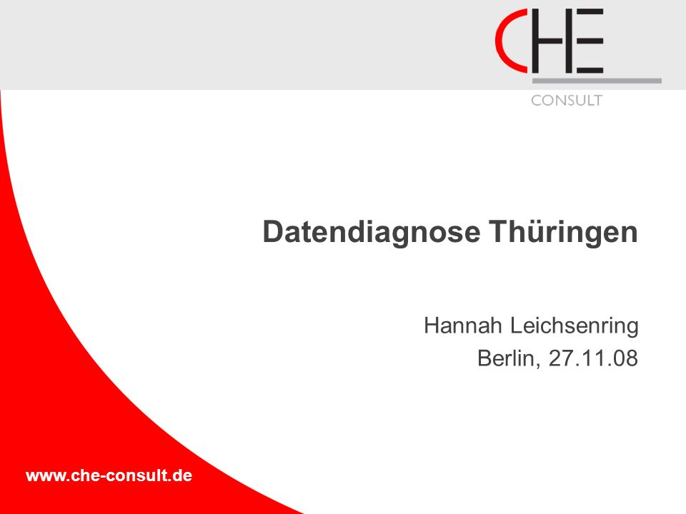Datendiagnose Thüringen